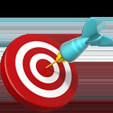 Bullseye target on dartboard